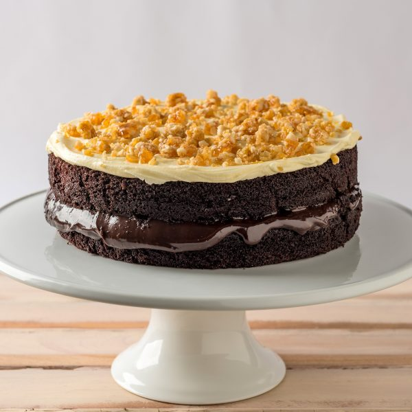 Chocolate cake, chocolate nougat